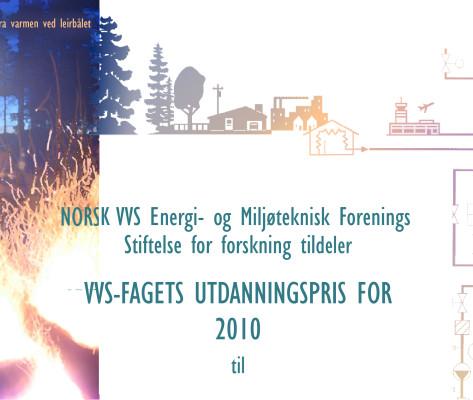 Bildelink til informasjon om diplom for VVS-foreningen, utformet av Sissel Slåttedal, Form og Fantasi.
